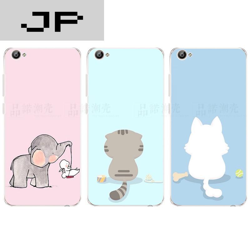 品牌步步高vivoy66手机壳y67保护套y27超薄软壳有创意简约可爱小动物