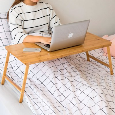 木馬人 折疊式筆記本電腦桌床上用小桌子宿舍懶人簡約書桌學習桌 MUMAREN 現代簡約 竹質