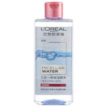 欧莱雅 (LOREAL) 三合一卸妆洁颜水 倍润型 400ml(欧莱雅女士 魔术水 卸妆水 洁面 保湿)