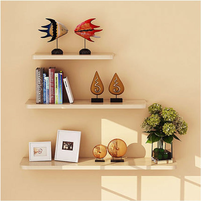 现代简约书架装饰架墙上置物架墙壁客厅一字隔板搁板壁挂墙面层板创意图片