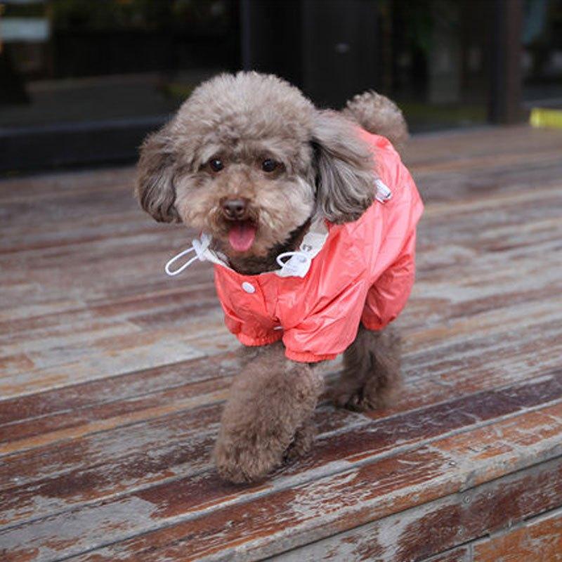 小型犬宠物狗狗雨衣可爱创意泰迪比熊小狗防水宠物雨衣 狗衣服四脚
