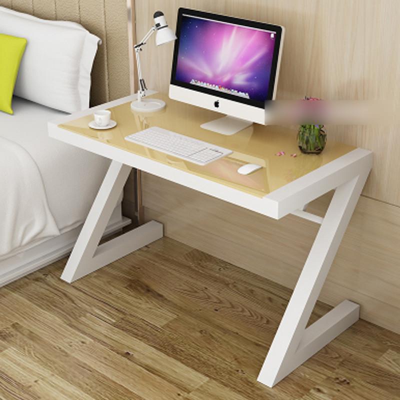 简易电脑桌钢化玻璃家用台式电脑桌 简约现代办公桌书桌学习桌电脑桌