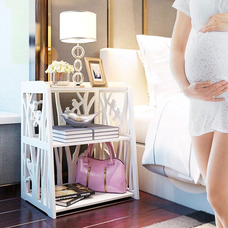 床头柜现代简易床头柜 欧式简约储物小柜迷你卧室床边