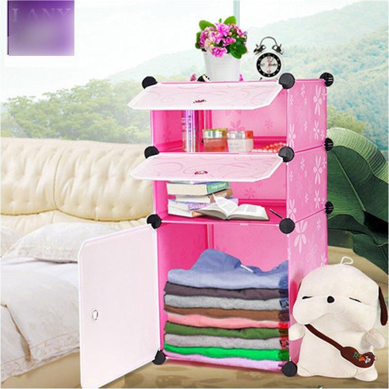 简易床头柜迷你创意卧室现代简约床边柜小型欧式塑料储物收纳柜子多