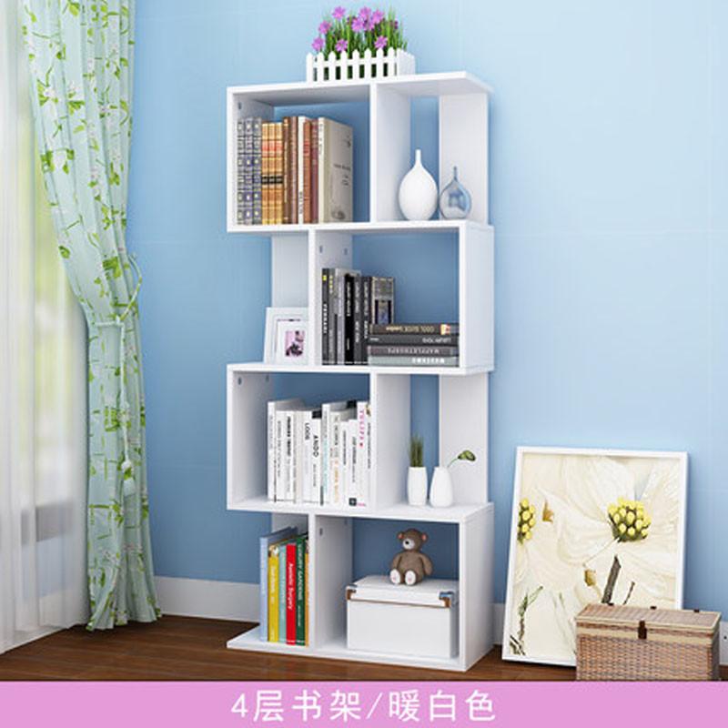 簡易書架置物架現代簡約兒童書架創意組合小書架落地學生書柜簡約新款