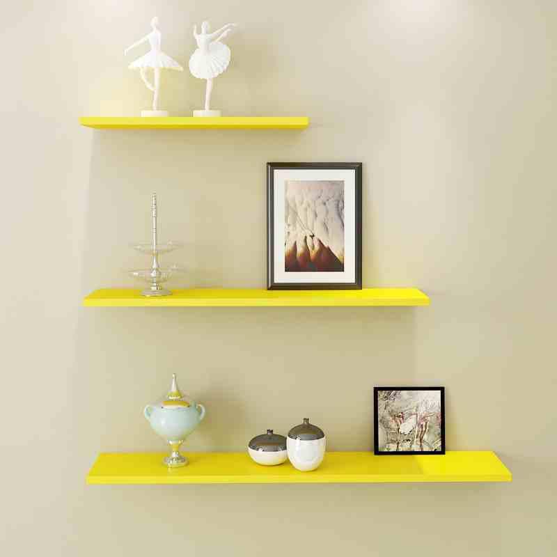 墙上置物架客厅墙壁挂墙面一字隔板搁卧室书架免打孔简约现代装饰生活