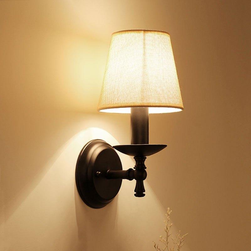 美式壁灯卧室床头灯客厅阳台过道灯欧式简约现代创意乡村铁艺灯具多