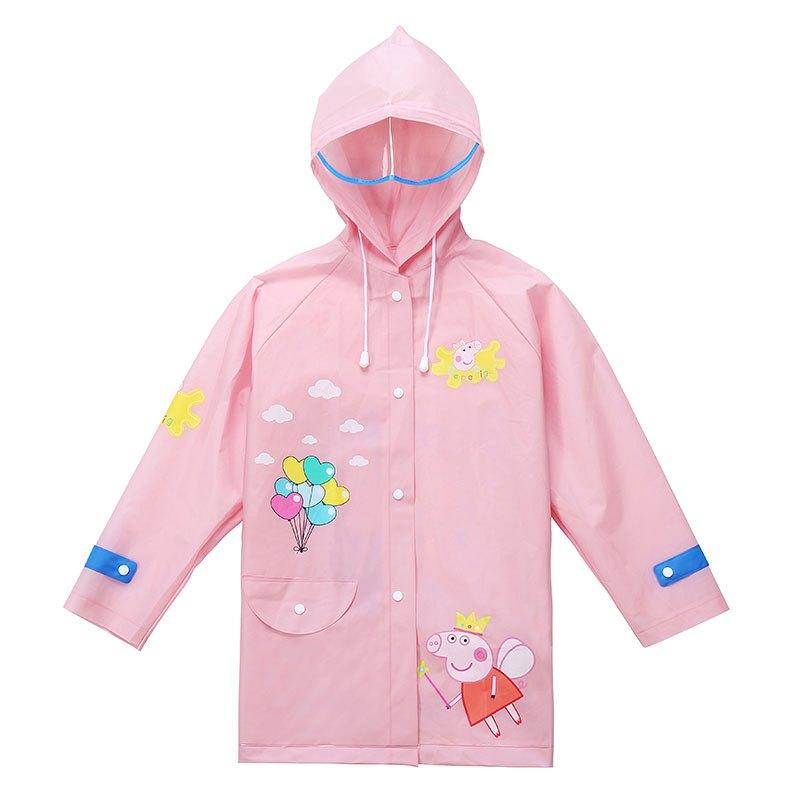 儿童雨衣宝宝幼儿园大帽檐雨披男童女童雨衣带书包位学生小孩雨衣多色