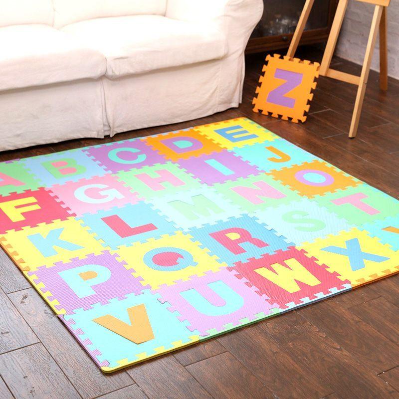 彩虹王国环保儿童爬行垫宝宝数字字母泡沫拼接地垫婴儿益智拼图地板垫