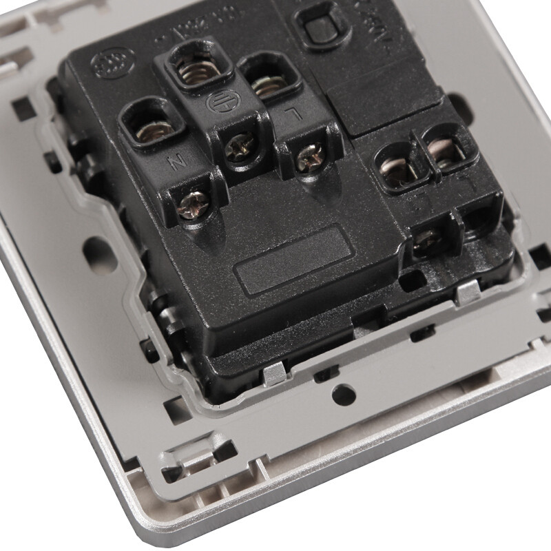 fsl佛山照明10a五孔带开关家用86型二三插座面板f11d