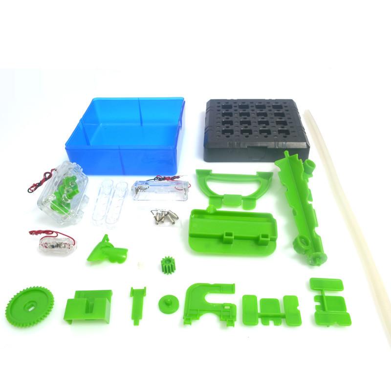 实验科技小制作小学科普diy益智学习手工小发明材料拼装玩具循环水车