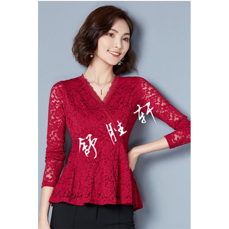 蕾丝小衫长袖蕾丝衫