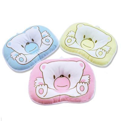 婴儿枕头0-6个月宝宝定型枕防纠正偏头新生儿童纯棉透气卡通枕头用品四季
