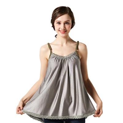 美妮防輻射服孕婦裝正品孕婦防輻射衣服全銀纖維吊帶裙四季蕾絲花邊
