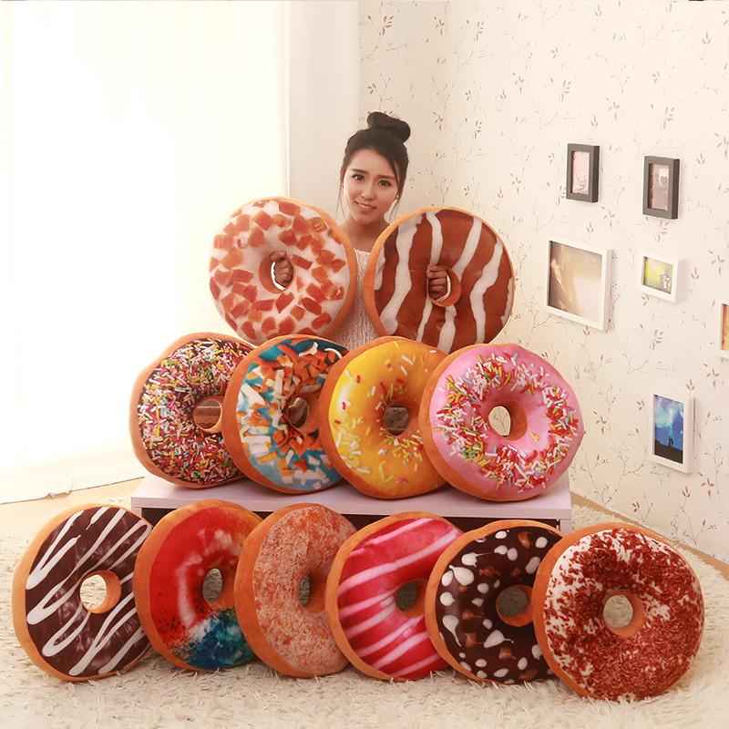 创意甜甜圈造型抱枕礼品生日礼物送男女生毕业礼品趣味靠垫-花花世界