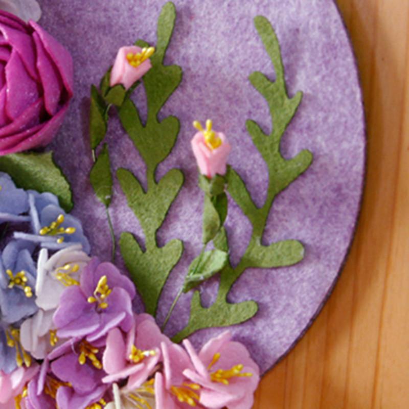 花开壁挂墙挂件装饰品创意不织布手工制作diy布艺材料包-花开月圆墙挂
