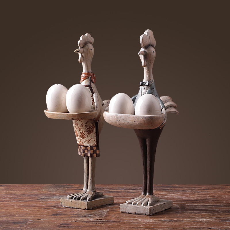 北欧风情摆件动物摆件鸡装饰品家居新房装饰品软装可做调味罐-鸡太太1