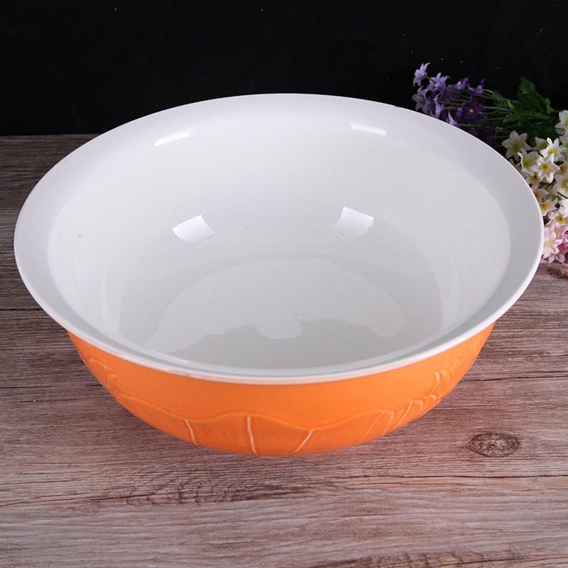加厚陶瓷盆老式手工陶瓷和面盆发面盆揉面盆好用省力厨房面盆图片