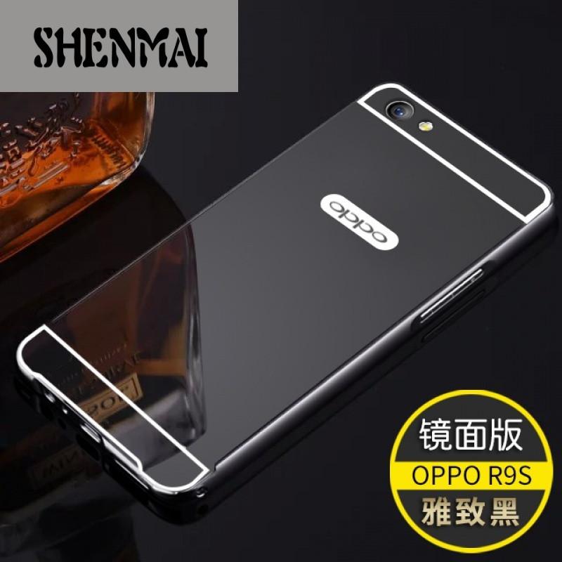 shm品牌oppor9s手机壳0pp0 r9sk保护套全包金属边框r9