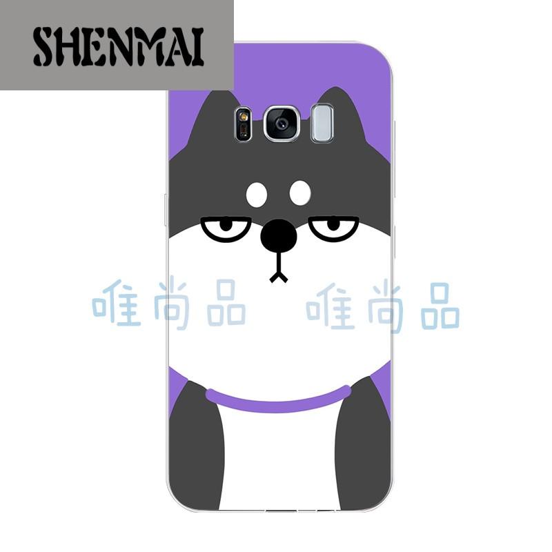 s8plus手机壳c5pro c7pro保护套硅胶q版卡通可爱搞怪柴犬