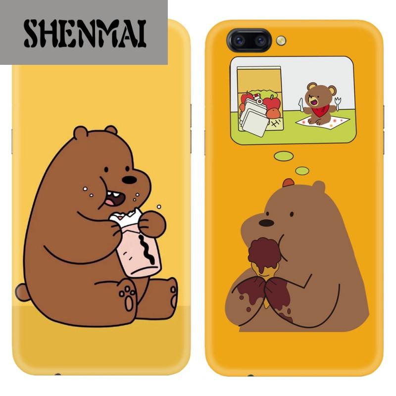 shm品牌创意可爱情侣裸熊oppor11/r9/r9s手机壳苹果6