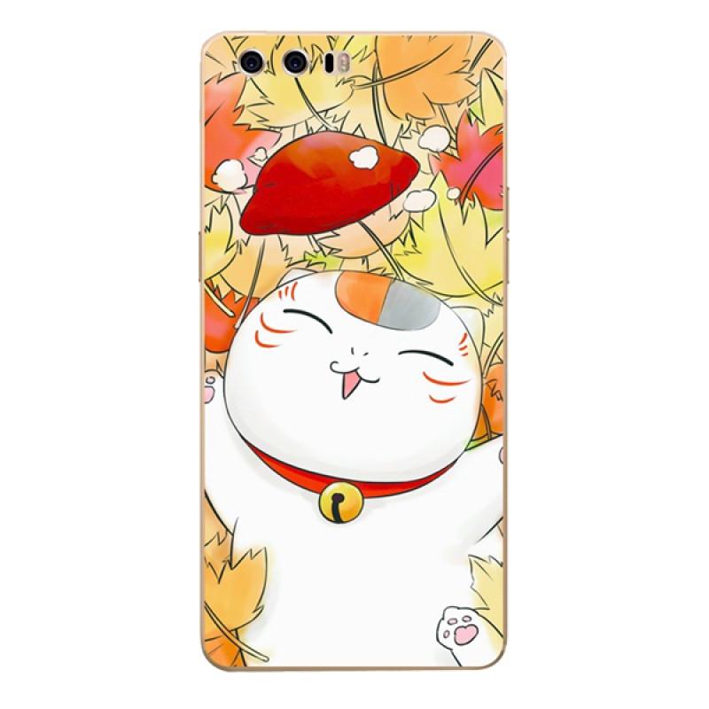 622款华为荣耀9手机套stf-al00保护软壳动漫可爱卡通夏目猫咪老师定制