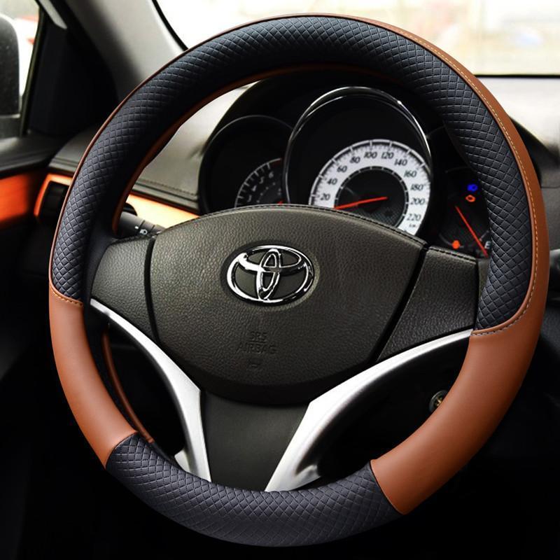 丰田rav4威驰凯美瑞卡罗拉锐志花冠雷凌专用改装方向盘套 汽车用品