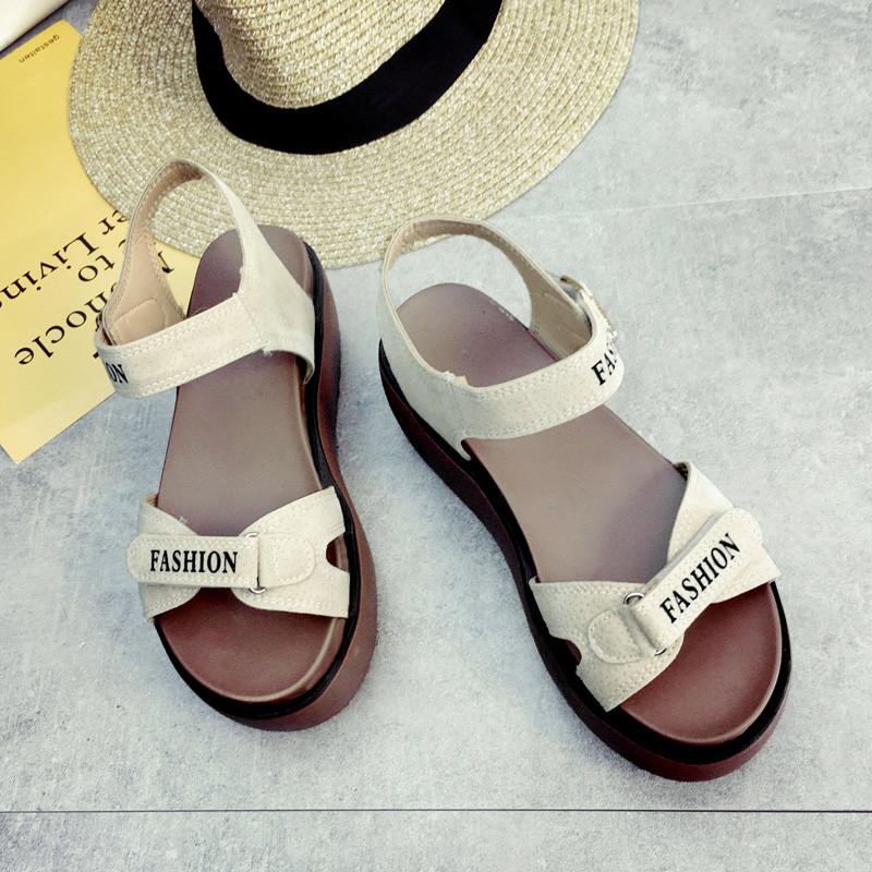 罗马厚底凉鞋