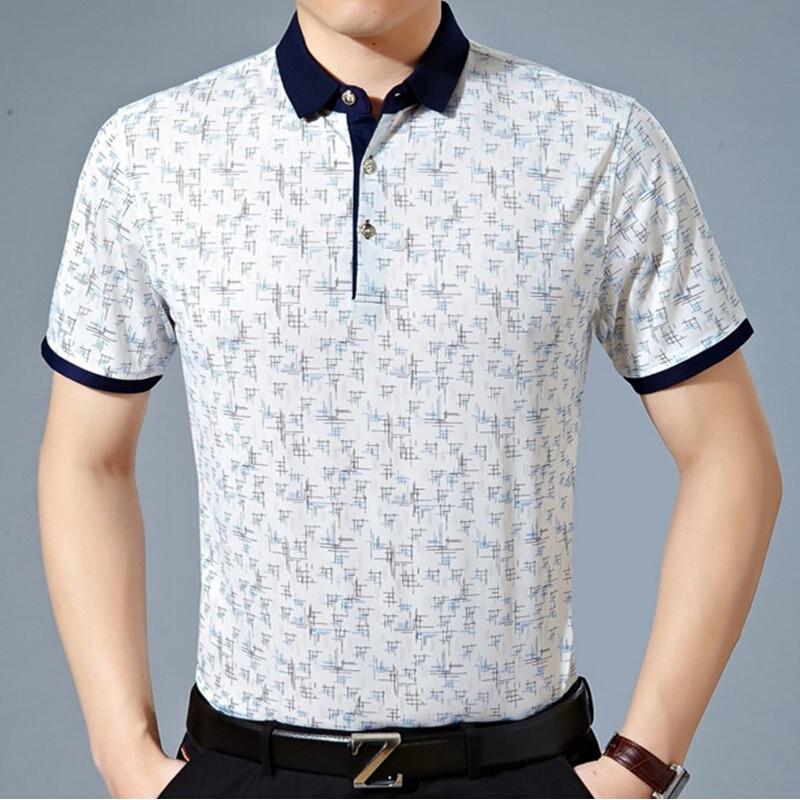 20172017新款夏季中年男士短袖t恤40-50岁中年人衣服纯棉爸爸装30夏装