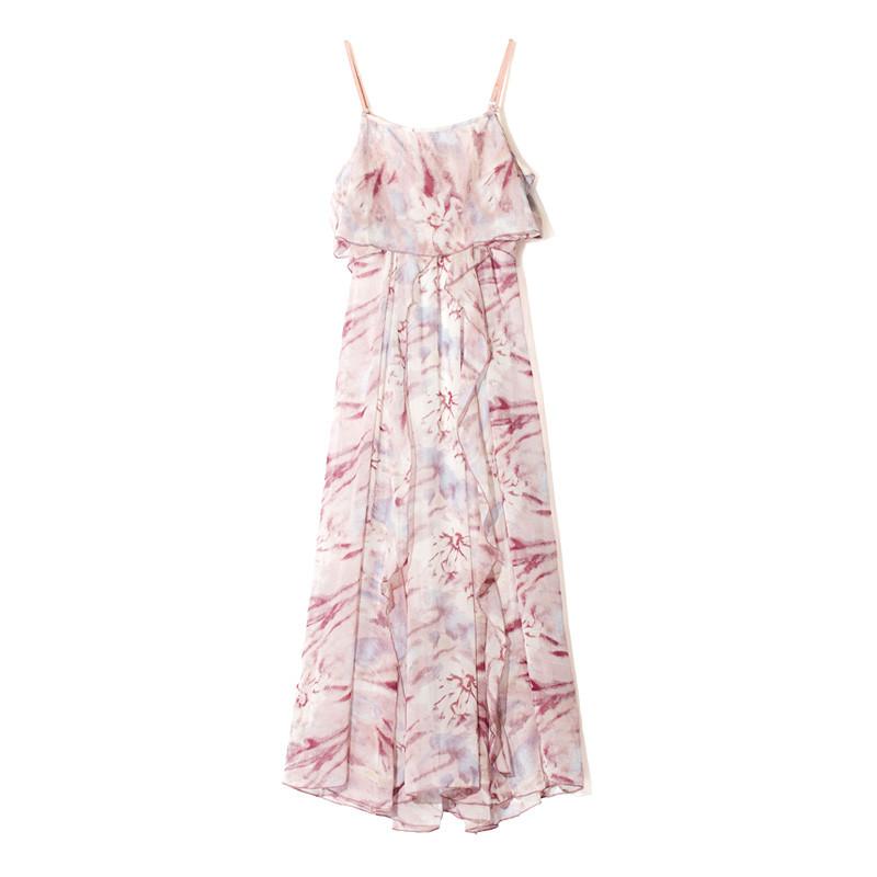 新款连衣裙女夏2017新款波西米亚长裙韩版仙沙滩海边度假显瘦雪纺裙子图片