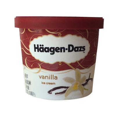 哈根达斯 小杯冰淇淋雪糕 香草味冰激凌 100ml