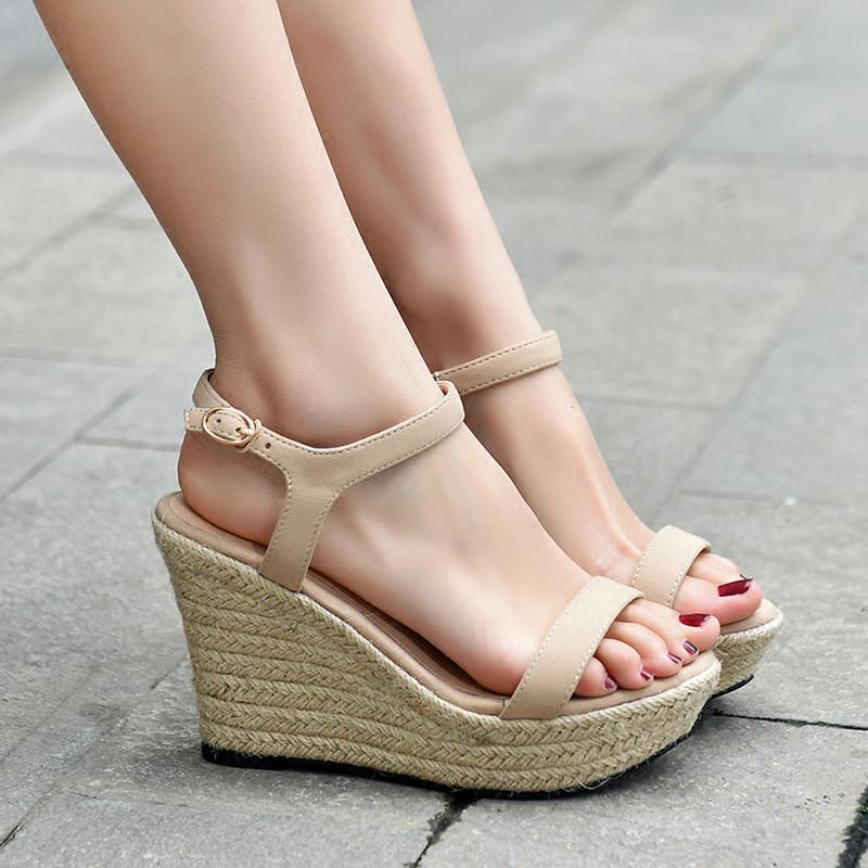 高跟鞋女夏细跟凉鞋防水台
