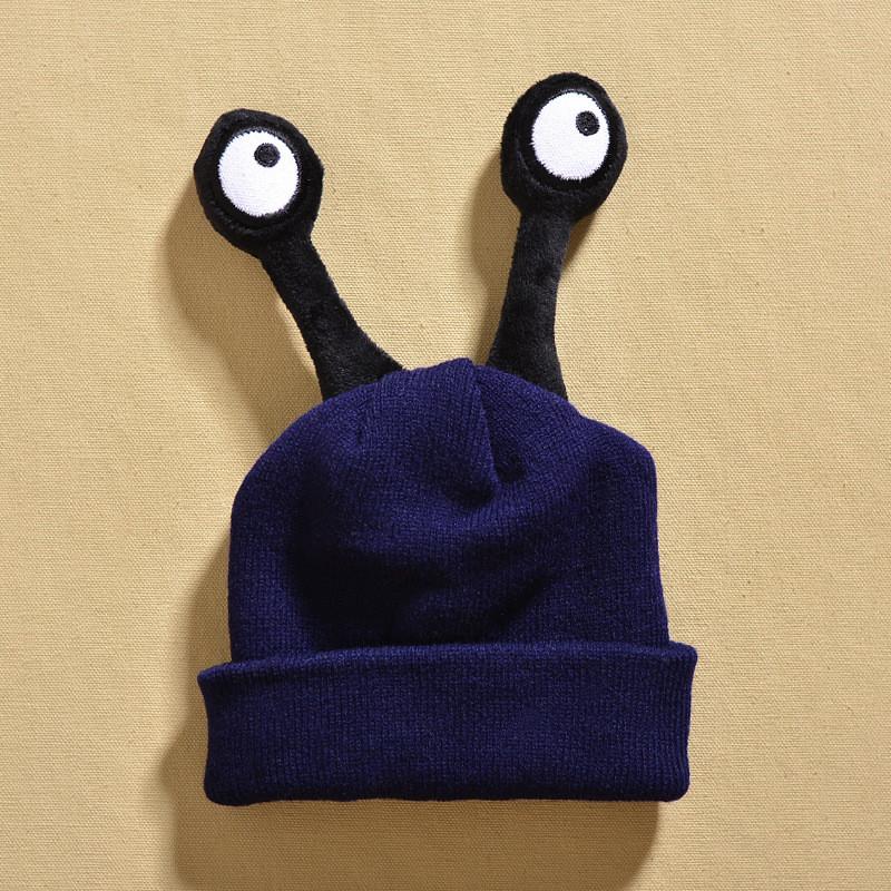 婴儿帽子秋冬保暖毛线帽女3-6个月12儿套头帽1-2岁可爱宝宝男