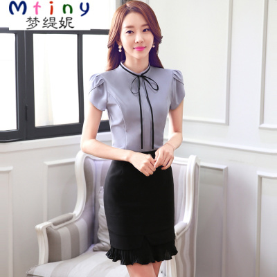 Mtiny職業套裝女夏裝襯衫套裙工裝OL正裝時尚修身工作服職業裝女裝套裝