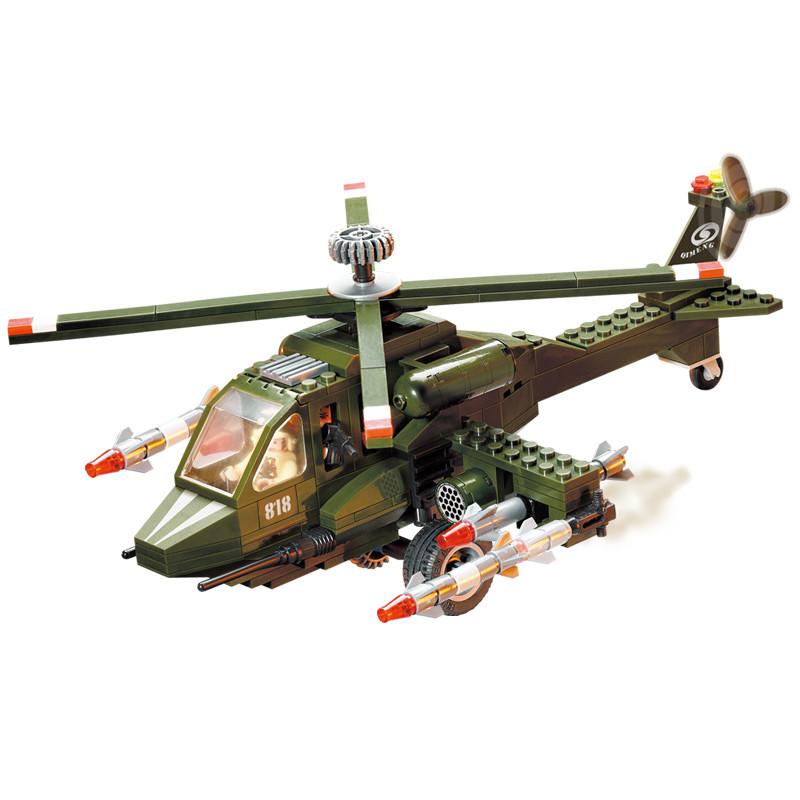 军事系列 直升机 兼容乐高积木 启蒙(enlighten)积木
