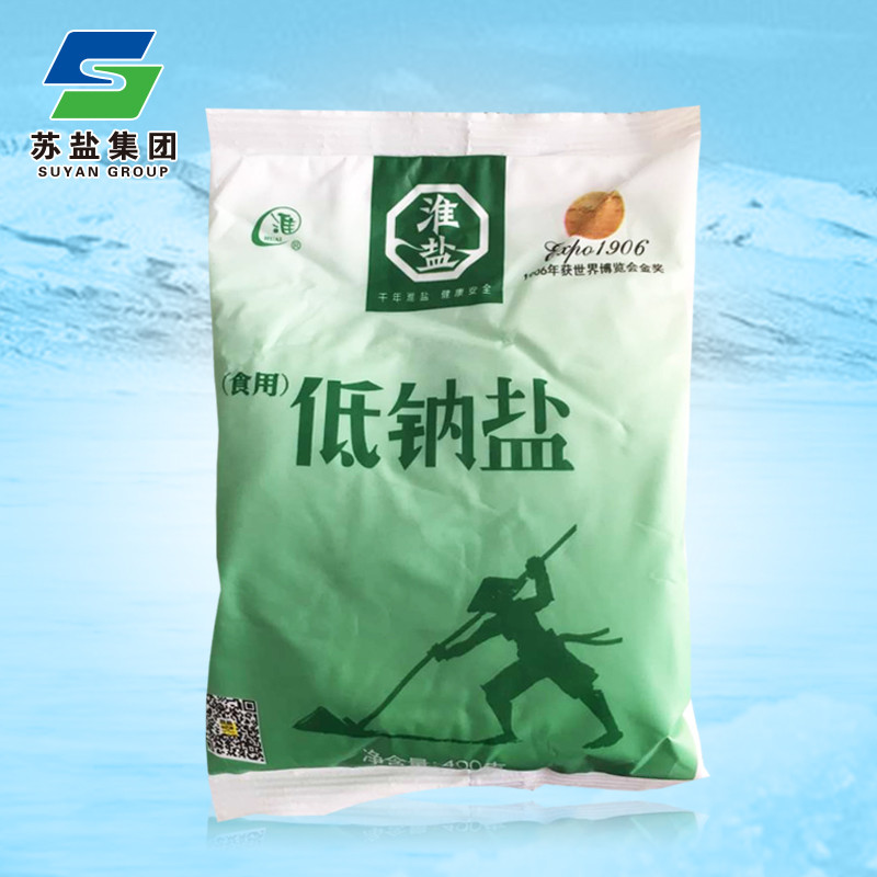 淮牌低钠盐食盐400g/袋 淮盐调味盐精制盐食用盐调料盐巴苏盐