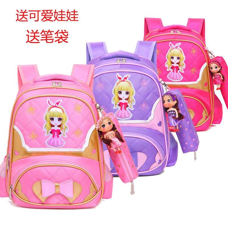 娉语小学生书包女生4-6年级小清新可爱小学生刺绣儿童
