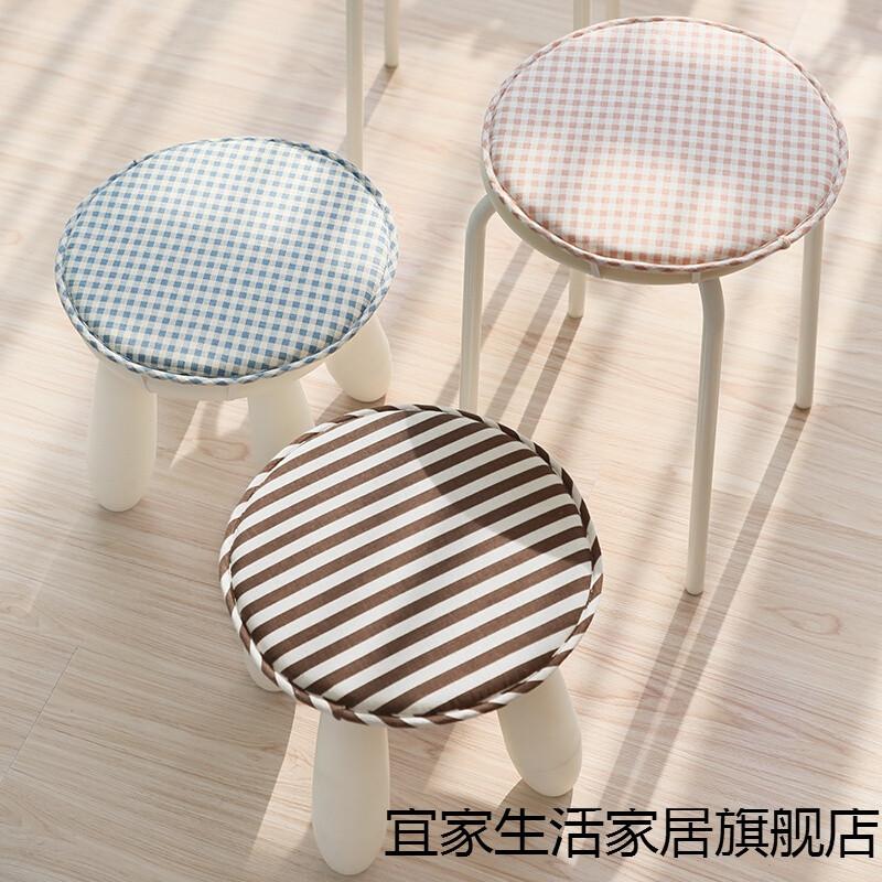新款日式圓形坐墊椅墊圓凳墊圓形餐椅墊防滑圓凳子套圓坐墊幼兒園坐墊圖片
