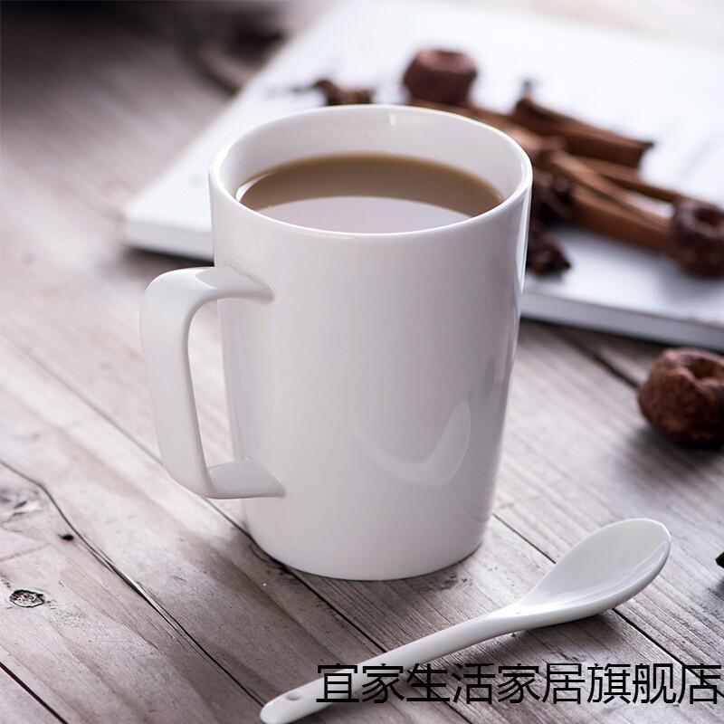 新款咖啡厅定制暖白陶瓷水杯马克杯咖啡牛奶杯创意情侣水杯早茶杯 355