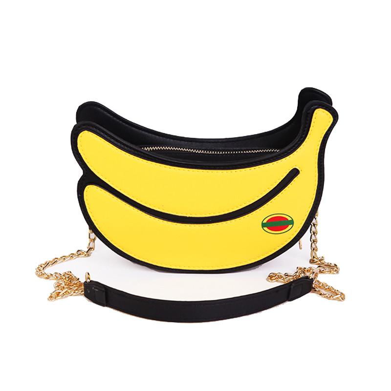 娉语夏天小包包女2017新款潮创意个性链条包韩版单肩香蕉形百搭斜挎包