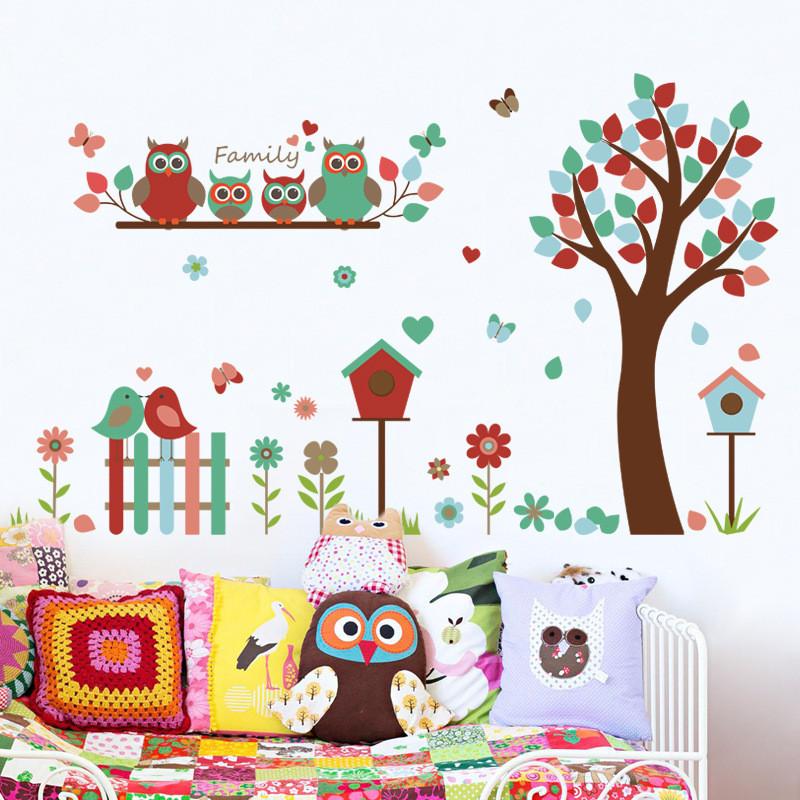 儿童宝宝房间自粘卡通动物幼儿园班级布置贴纸贴画玻璃窗双面墙贴