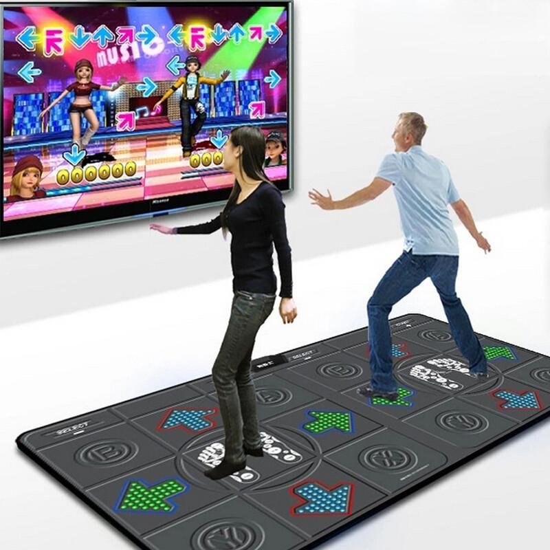 跳舞毯双人电视电脑两用体感跳舞机玫红色彩色硅胶豆 手柄