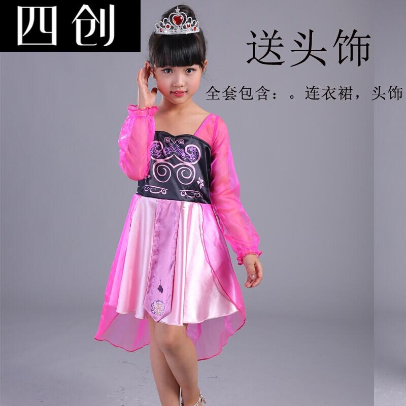 精灵梦夜萝莉仙子叶罗丽娃娃衣服套装儿童古装公主裙子连衣裙