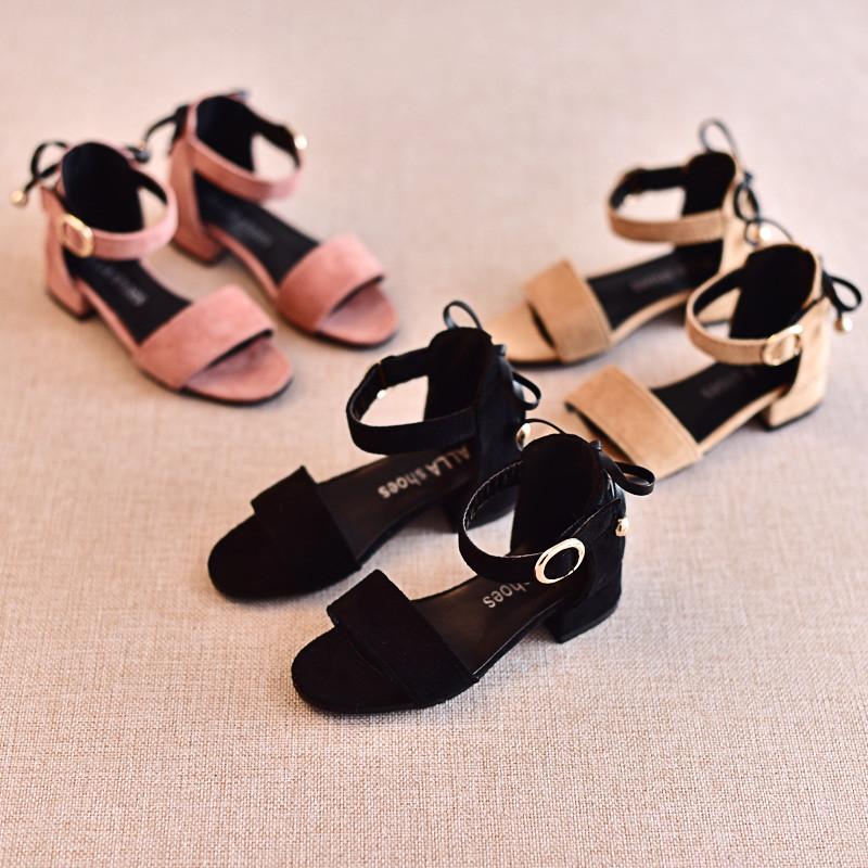 2017新款2017夏季新款童鞋儿童女童高跟公主凉鞋韩版潮时尚百搭中大童