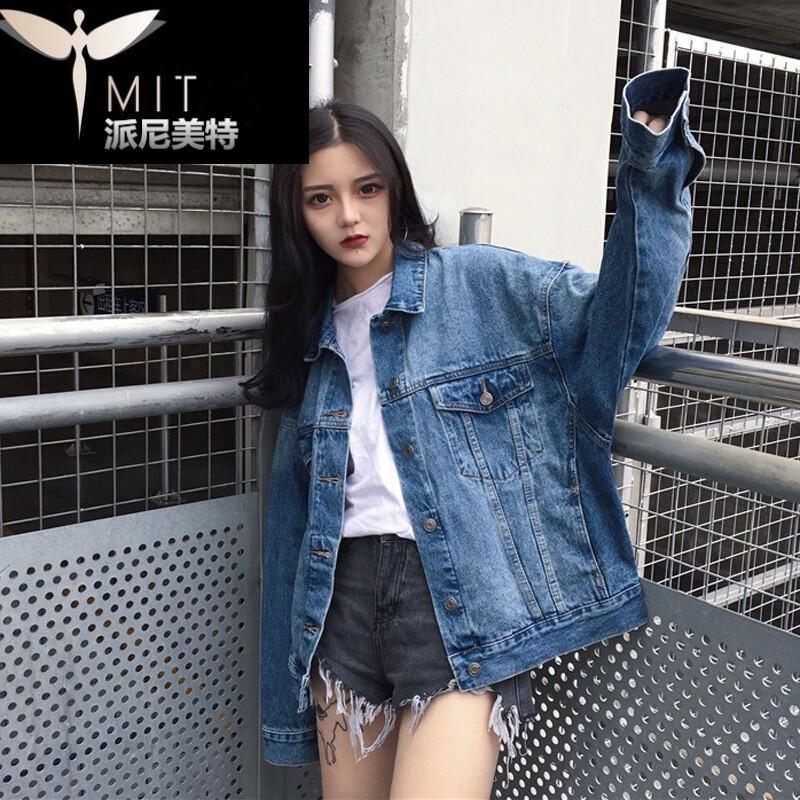 c2017秋季新款时尚牛仔外套女宽松学生韩版百搭牛仔服图片