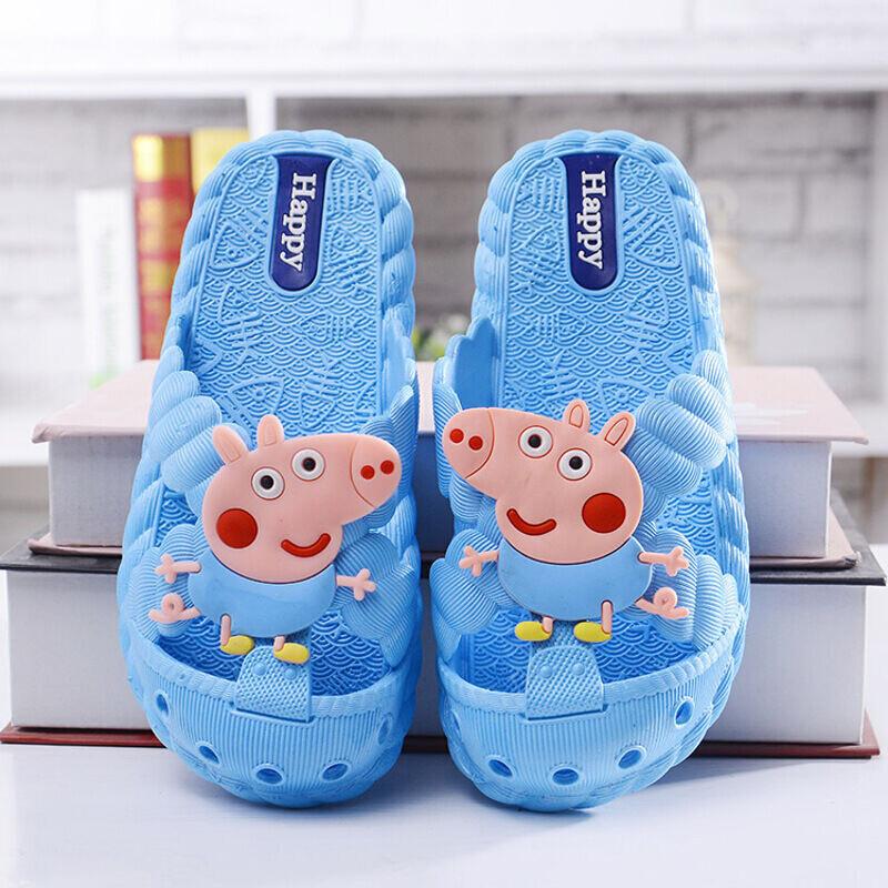 小猪佩奇包头儿童凉拖鞋居家洞洞鞋防滑沙滩小孩儿童拖鞋小猪佩奇