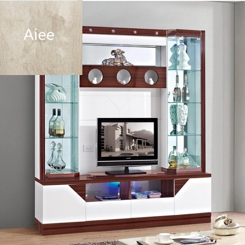 aiee小户型电视酒柜组合客厅玻璃厅柜展示柜组合壁挂电视柜吊柜1.图片