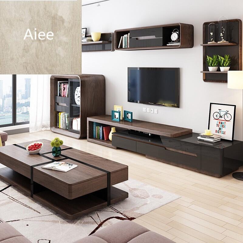 aiee北欧多功能个性创意茶几电视柜组合简约现代小户型客厅家具套装图片