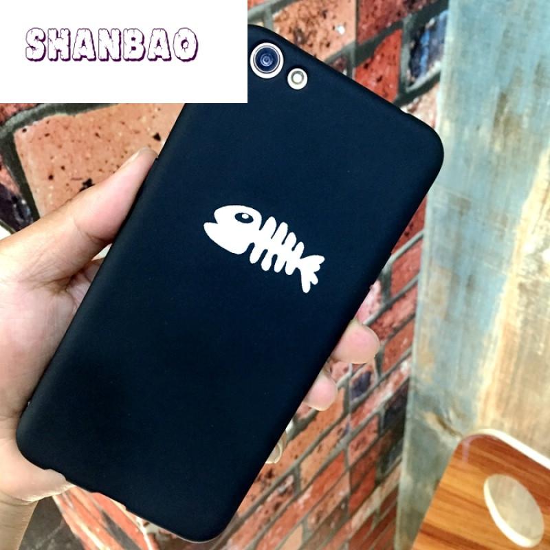 shanbao潮可爱猫咪简约苹果7手机壳oppor9splus手机壳