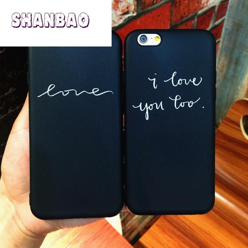 shanbao英文情侣苹果7手机壳iphone6splus手机壳r9s保护壳r9splus
